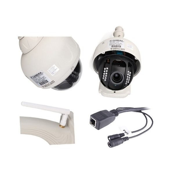 Hw0028 wanscam camera dome ip ptz infrarouge exterieur zoom x3 hd 720p 1280x720 h264 p2p hds - Camera infrarouge exterieur ...