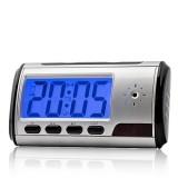 RVL1B Réveil Caméra Espion 720x480 Batterie Interne LCD Micro SD jusqu'à 32 Go Vidéo Détection de Mouvements Photo Dictaphone