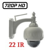 HW0028 Wanscam Camera Dome IP PTZ Zoom X3 HD 720P Mémoire jusqu'à 256 Go Infrarouge ONVIF H264 P2P