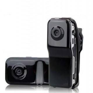 MD80 Caméra Miniature Espion Sport avec détection sonore 720x480 jusqu'à 32 Go et ses accessoires