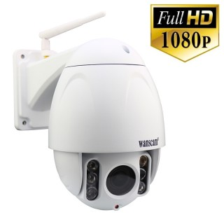 HW0045 Wanscam Caméra IP Extérieure PTZ Zoom X5 Wifi Full HD 1080P 256 Go Max Infrarouge 60 mètres