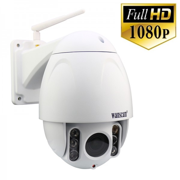 Hw0045 wanscam cam ra ip ext rieur ptz zoom x5 wifi 16 go for Camera exterieur wifi