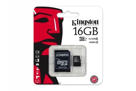 CARTE MICRO SD KINGSTON DE 16 A 256 GO CLASSE 10 SDC10G2 UHS-I HD 45MO/S SDXC