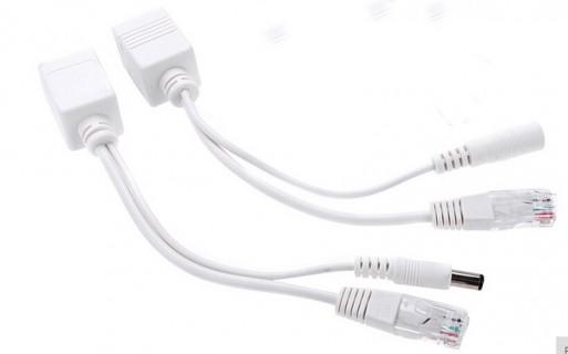 Kit Injecteur + splitter POE 12V RJ45 pour caméra Ip réseau passif 30m