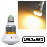 Ampoule caméra IP espion wifi HD 960P Micro SD 32 GO max led 5W Jaune BC-885Y