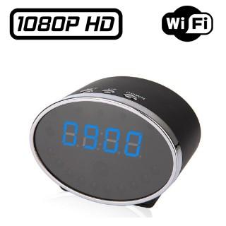 RVLIP3 Réveil Caméra Espion IP WIFI FULL HD 1080P Micro SD jusqu'à 256 Go 10 Leds Infrarouges Détection de Mouvements Cloud P2P
