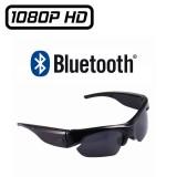 Lunettes Caméra Full HD 1080p Sport Espion de Soleil Vidéo Photo Micro SD 32 Go Max Bluetooth Oreillettes MP3