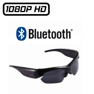 SUNG4 Lunettes de Soleil Caméra Full HD 1080P Micro SD jusqu'à 32 Go Sport Espion Vidéo Photo Bluetooth Oreillettes MP3