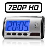 Réveil Caméra Espion Digital HD 1280x720 avec télécommande Détection de mouvement 720P