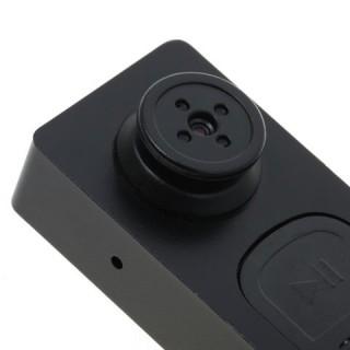 BTN2D Bouton Caméra Espion 480P Micro SD jusqu'à 32 Go Vidéo Détection de Mouvements Photo 720x480
