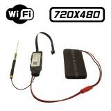 MV55 Module Caméra Espion DVR Réseau IP Wifi 480P Micro SD jusqu'à 32 Go, Audio, Détection, 640x480 4CIF