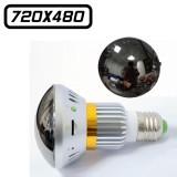 BC-681M Ampoule Miroir Caméra Espion 480P Micro SD jusqu'à 32 Go Max Vidéo Détection de Mouvements Infrarouge Invisible 640x480