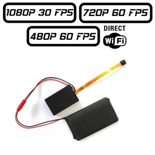 MT300 Module Caméra Espion Full HD 1080P 720P 480P 60 FPS Micro SD jusqu'à 256 Go WIFI Direct Détection de Mouvements Sortie AV