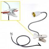 interrupteur + Rallonge + prise + pince de fixation flexible E27 extension 270mm 27 cm mm BC-AEPC30EU ampoule caméra