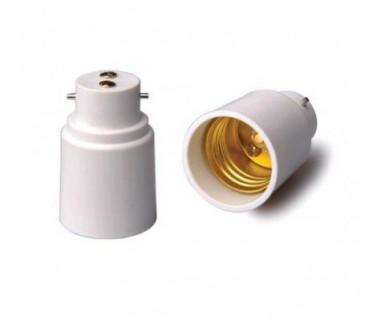 E27B22 Adaptateur Raccord Culot E27 vers B22 pour Ampoules Caméras ou Standards BC-ACB22