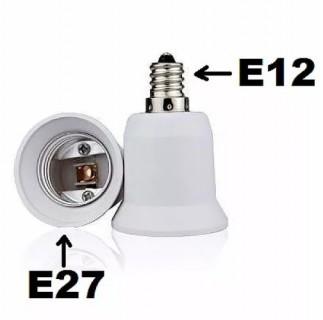 E27E12 Adaptateur Raccord Culot E27 vers E12 pour Ampoules Caméras ou Standards BC-ACE12