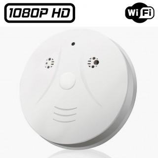 DFHDW1 Détecteur de Fumée Wifi Caméra Espion Full HD 1080P Iphone IOS Android Batterie 256 Go Max