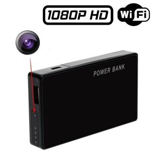 PWB1 Power Bank Caméra Espion Wifi FULL HD 1080P Micro SD jusqu'à 256 Go Batterie longue durée H264