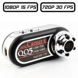 QQ5 Caméra DVR mini dv grand angle 120° HD miniature Full-HD 1080P Infrarouge Batterie Sortie Vidéo MJPG micro SD 64 GO