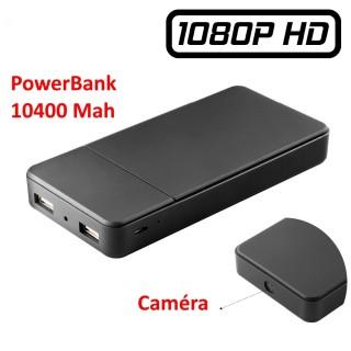 PWBT168 T168 Power bank caméra espion 1080P vidéo 128GO 18H de batterie autonomie