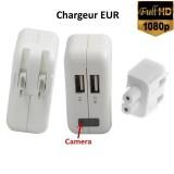 CHEUSB Chargeur secteur USB avec caméra intégrée détection Full HD 1920x1080 24 IPS 64Go max