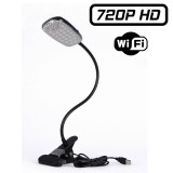 LMPB Lampe de bureau caméra espion wifi Led blanche DVR micro sd 64 GO max