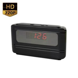 RVL64 Réveil Caméra Espion HD 720P Détection de mouvements Vidéo Photo Dictaphone 64 Go Max 1280x720