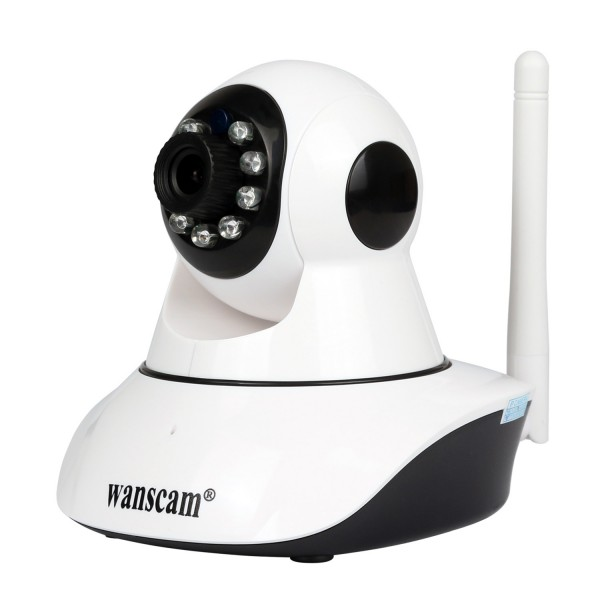HW0041-2 Wanscam Caméra IP 1080P mobile intérieur micro SD 128 Go ...