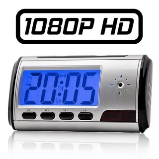 RVL1BHD2 Réveil Caméra Espion FULL HD 1080P Micro SD jusqu'à 256 Go Détection de mouvements Vidéo Photo Audio