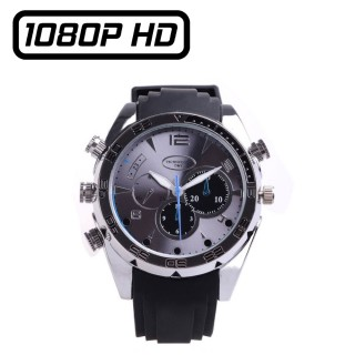 WTCH14 Montre Caméra Espion Full HD 1080P Mémoire de 8 à 128 Go Leds Infrarouges Vidéo Photo Audio