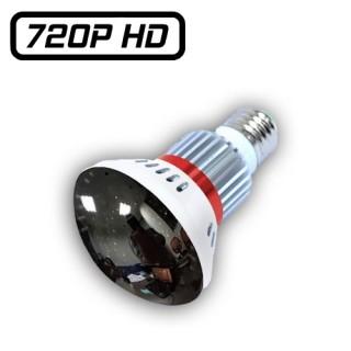 BC-781M Ampoule Miroir Caméra Espion IP WIFI HD 720P Micro SD jusqu'à 32 Go Max 1280x720 Détection Leds Infrarouges Invisibles