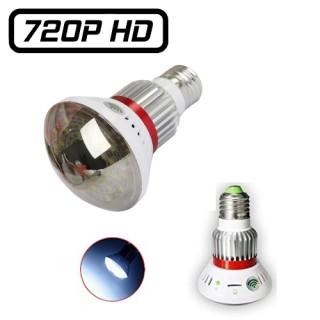 BC-785WM Ampoule Teintée Caméra Espion IP WIFI HD 720P Micro SD jusqu'à 32 Go 1280x720 Détection Infrarouge Lumière LED Blanche