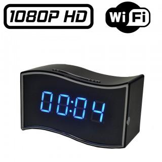 RVLIP6 Réveil Caméra Espion IP WIFI Full HD 1080P Vision Nocturne Micro SD jusqu'à 256 Go Détection de Mouvements Ethernet RJ45