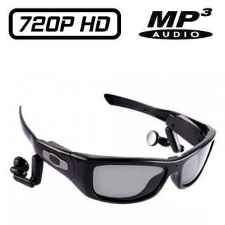 SUNG3 Lunettes Caméra Sport Espion Design HD 720P 8 Go intégrés Style Oakley Vidéo MP3 Verres Polarisés UV400