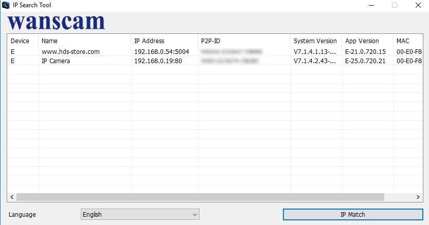 logiciel detection wanscam wanscamtool